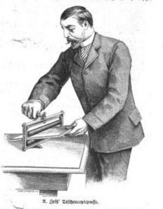 Taschencopirpresse Ill Zt Nr. 2459_1890 S. 181