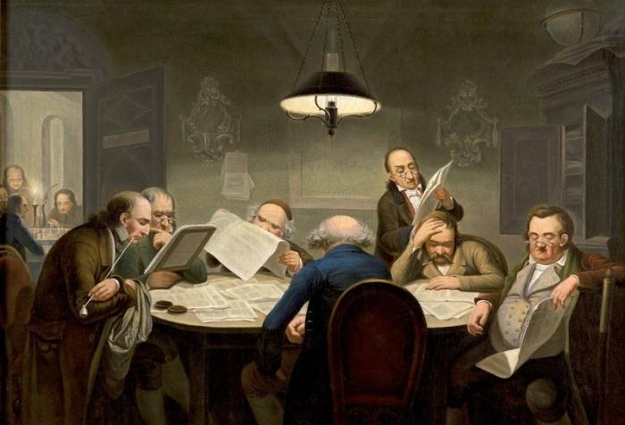 Johann Peter Hasenclever_Lesegesellschaft um 1849