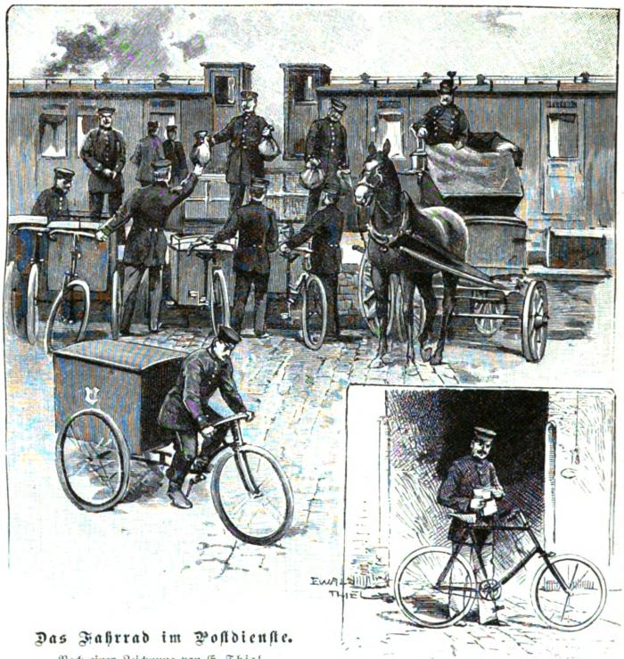 Das Fahrrad im Postdienst_Die Gartenlaube H_25_1898_S_804