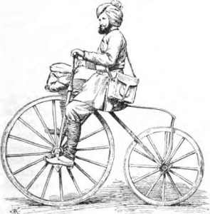 Indischer Postbote auf Fahrrad_ Geistbeck_Weltverkehr 1895_S 409