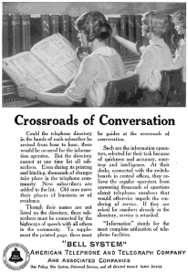 Bell Crossroads of Conversation 1923