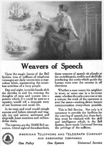 Bell Weavers of Speech 1915