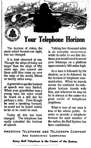 Bell Your Telephon Horizon 1911
