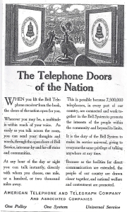 Telefonische Türen der Nation_Scientific American 20_12_1913_S 481